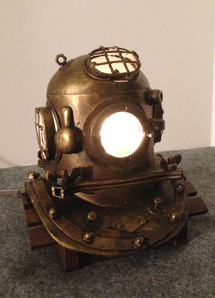 """US Navy Replica Mark V Nautical Scuba Divers Helmet Lamp 7-1/2"""" High by thegiftcabinet on Etsy"""