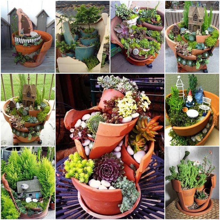 Broken Pot Fairy Garden!