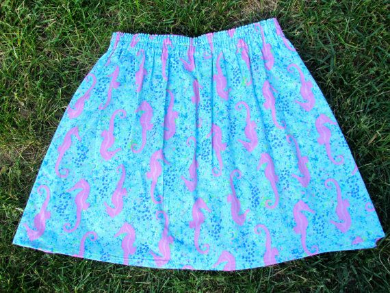 Sassy Seahorses Fold Skirt by LighthousesAndLilac on Etsy