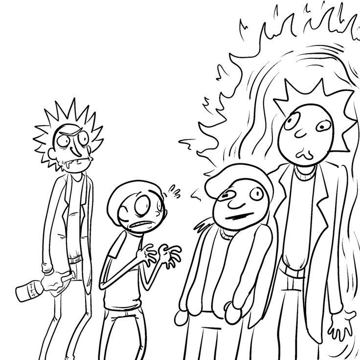 Rick and Morty meets Doc and Mharti by JaxASDF.deviantart.com on @DeviantArt