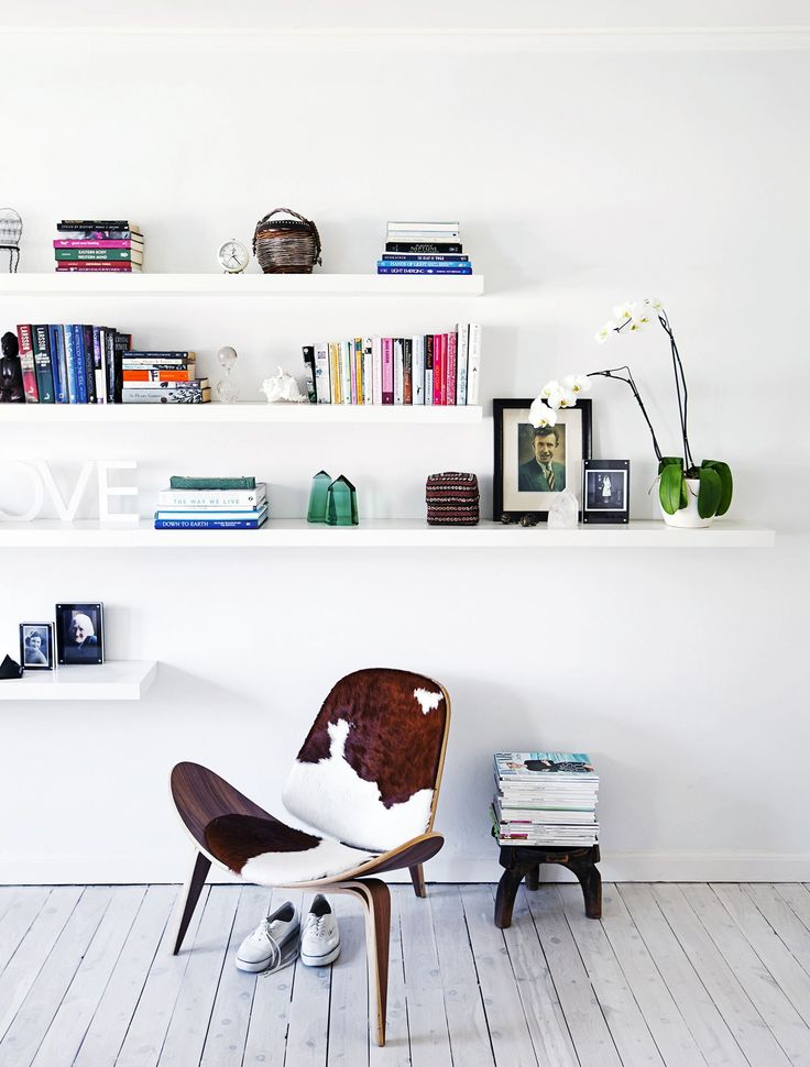 """""""It had to be a calm retreat, but a grounded, earthy space rather than a clean box,"""" says architect Brooke Aitken of the apartment's new look. Staggered floating [Ikea](http://www.ikea.com.au/