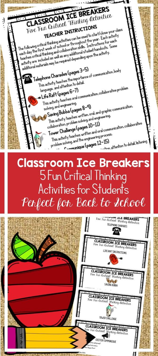 fun critical thinking activities for middle school students