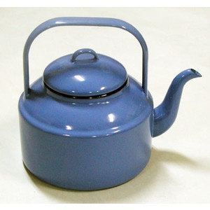 Enamelware Retro Blue Tea Kettle.