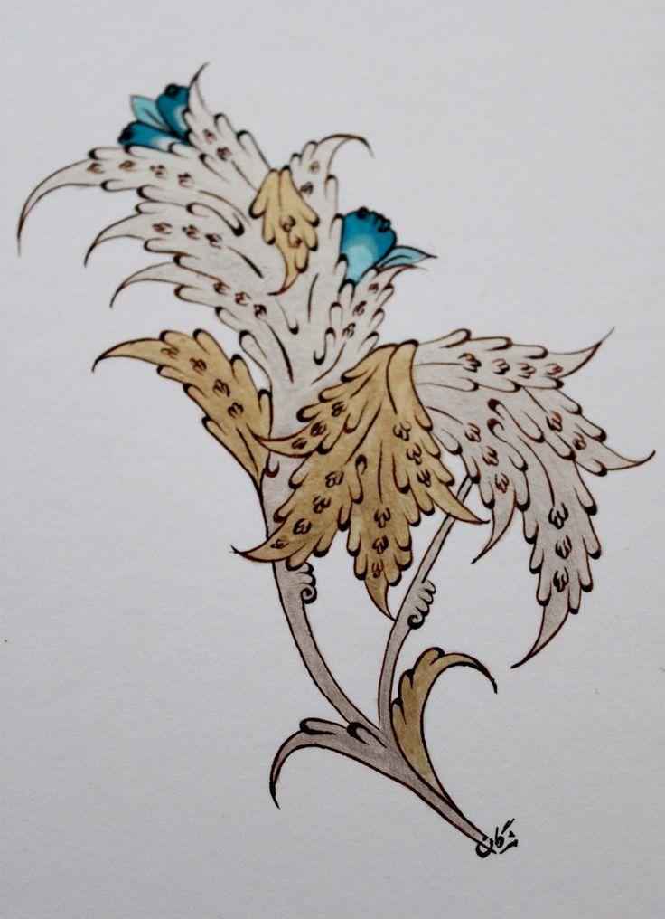 Persian Illuminations (Tazhib) artwork by Mojgan Lisar: Lotus
