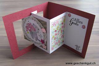 Fun Fold Card Katze Geburtstagskarte Katzenfreundin