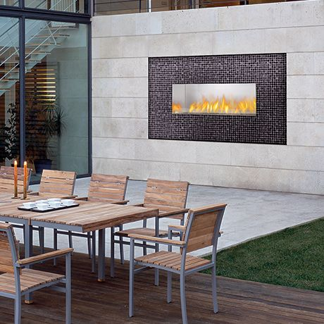 napoleon linear outdoor gas fireplace home