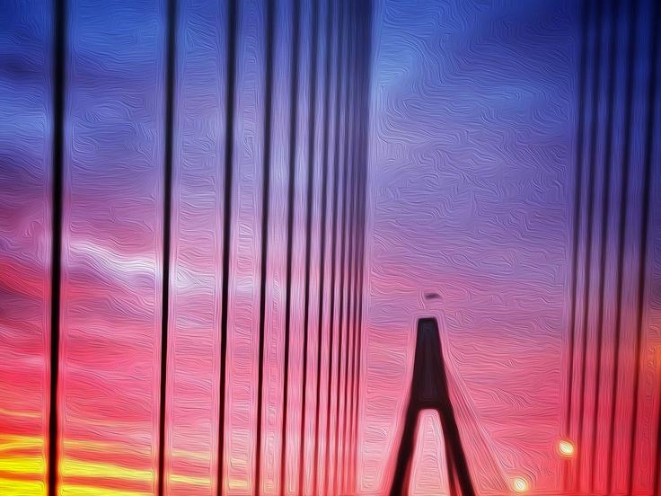 Anzac Bridge :: Sunset     www.gretchenchappelle.com