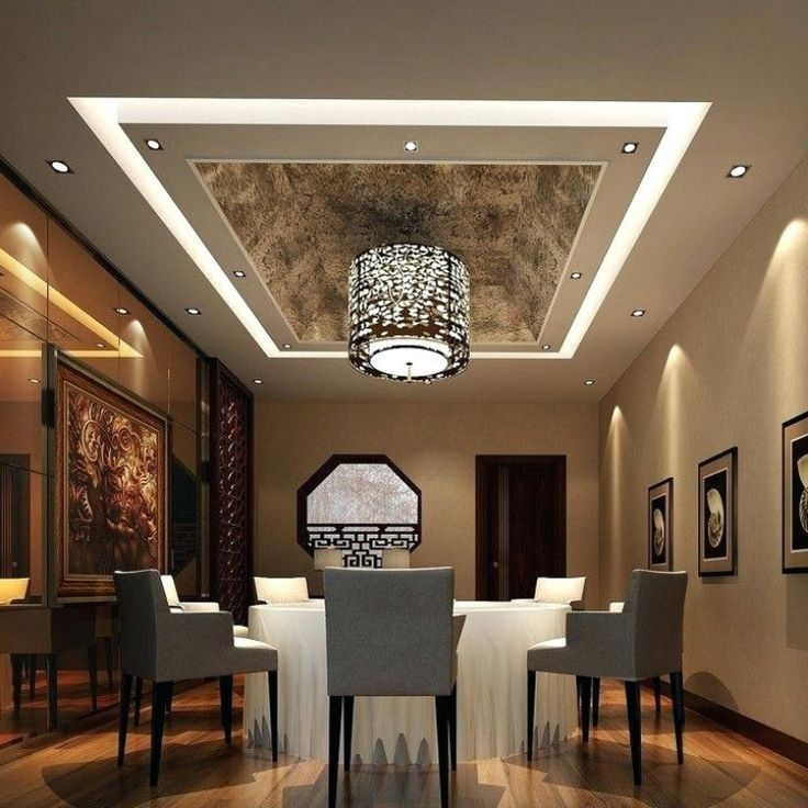 Ceiling Gypsum False Ceiling Designs | Dining room ceiling ...