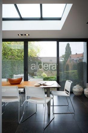 Aluminium profielen veranda – strakke veranda Vlakke lichtstraat in staal - Flatglass