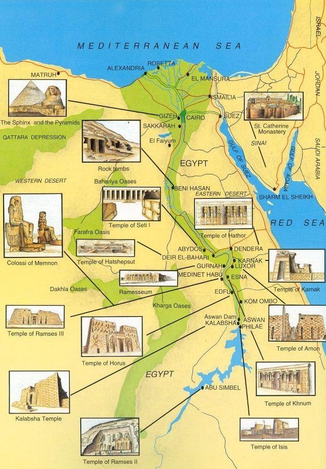 ancient-egypts-secrets:  Map of Ancient Egypt