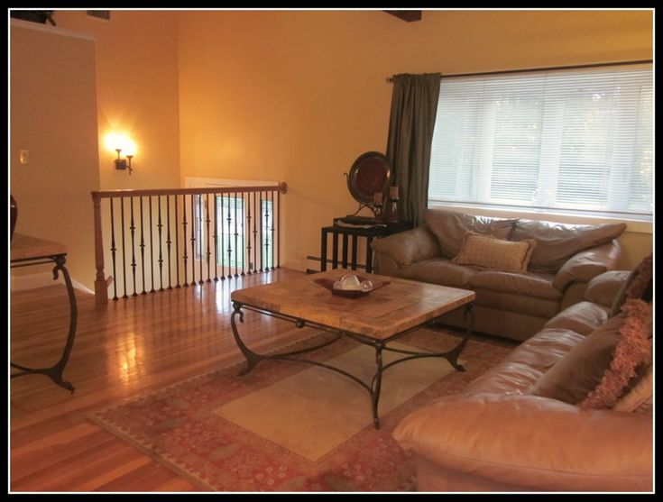 Here Is An Example In Raised Ranch Banister Pinterest Raised Ranch Remodel Window And Tables