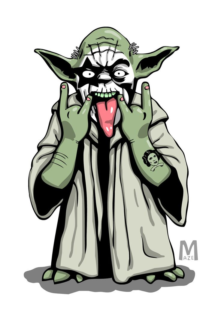 Yoda Rockstar KISS