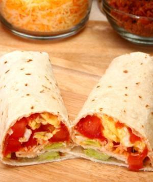 The Two-Minute Homemade #Breakfast #Burrito