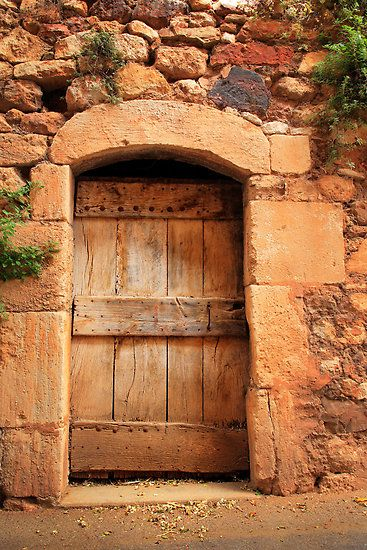 Provence - stone and wood door