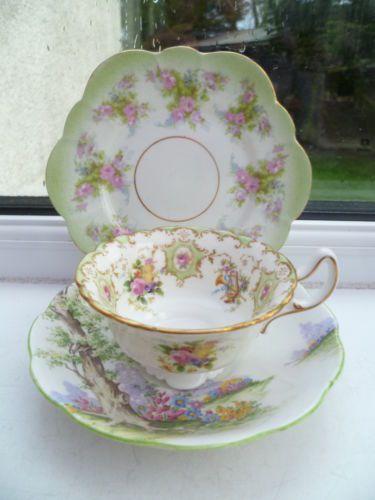 Vintage Mix & Match China Trio Tea Cup Saucer Plate Royal Albert Doulton