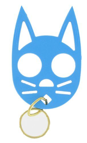 Cat Personal Safety Keychain (Kitty shaped brass knuckles made of plastic instead)
