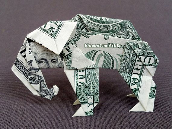 Origami Elephant Out Of Money