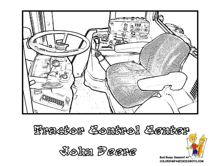 Tractor Colouring In Pages John Deere : 27 best gritty tractor coloring pages images on pinterest