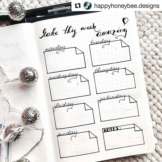 #Repost @happyhoneybee.designs with @repostapp ・・・ Layout for next week in my journal☺