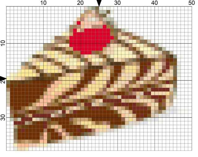 Free Needlepoint Pattern for National Cheesecake Day: Day 211 of the 365 Needlepoint New Year's Resolutions Challenge