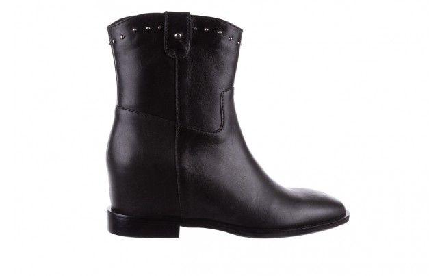 Bayla 170 2126 Czarne Licowe Botki Czarne Boti Bayla Na Ukrytym Koturnie Wykonane Z Naturalnej Skory Licowej Boots Rubber Rain Boots Shoes