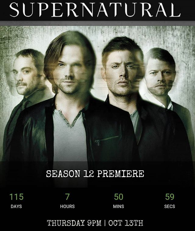 Supernatural season 12 premiere will be aired in 115 days. We will survive the…