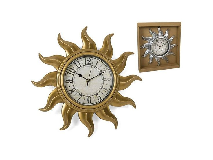 #RELOJ DE PARED SOL DORADO EN TIENDA ONLINE CATAYHOME https://www.catayhome.es/categoria/relojes/