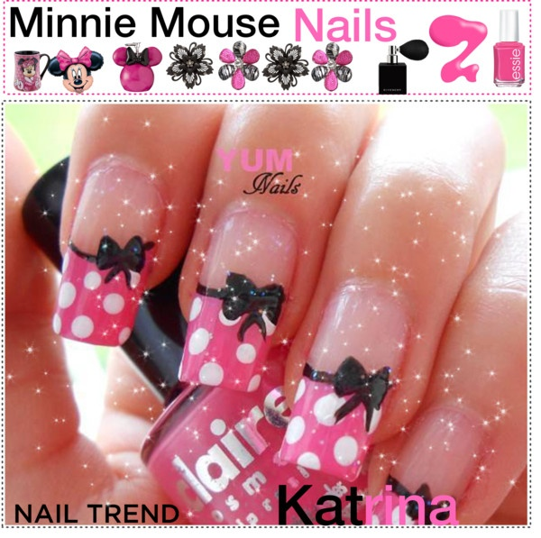 Minnie Mouse Nails: 100 Best Images About Minnie Mouse Nails On Pinterest