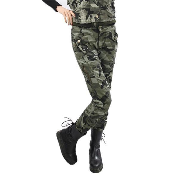 Женские штаны военного цвета