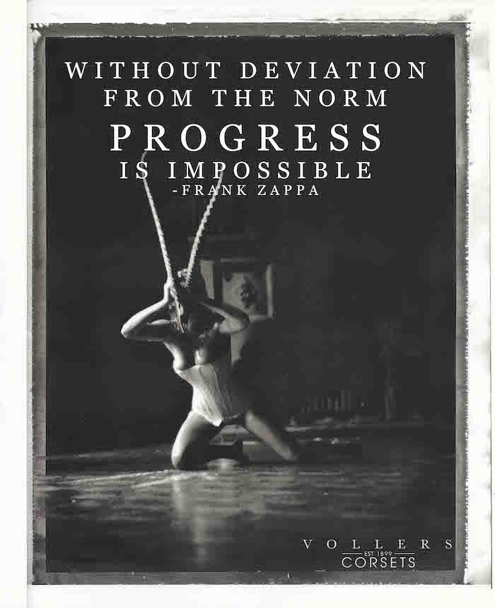 without deviation from the norm progress is impossible