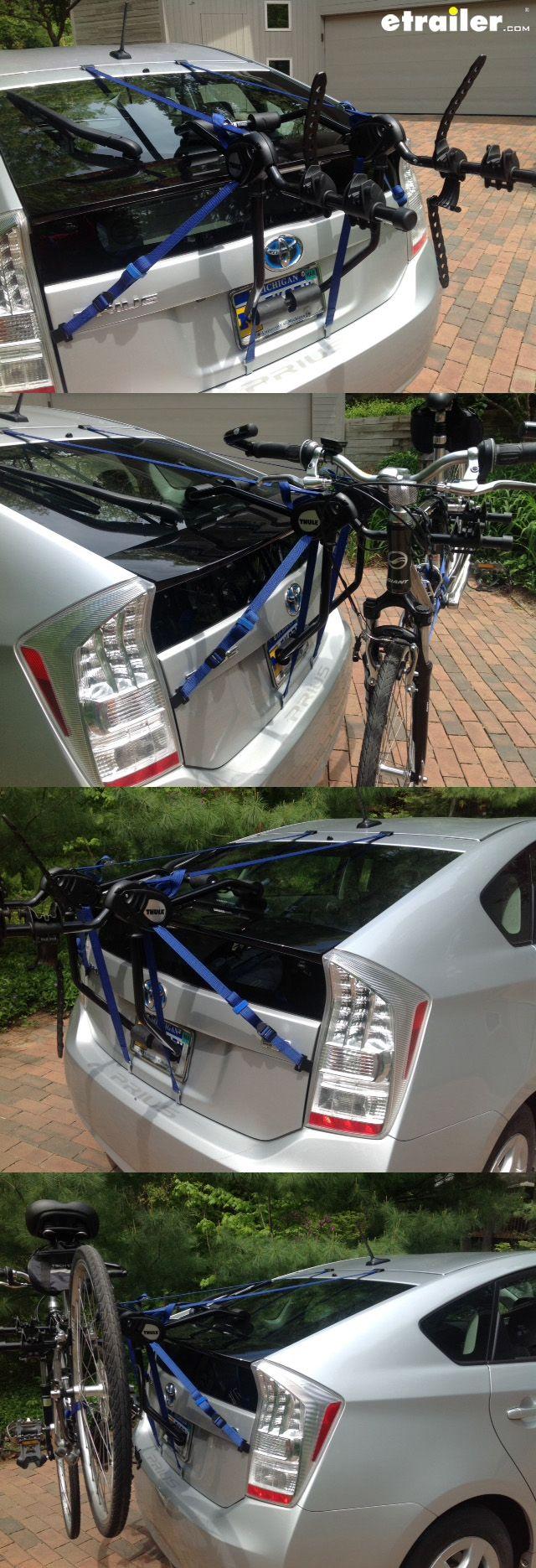 Thule passage 2 bike carrier trunk mount thule trunk bike racks th910xt