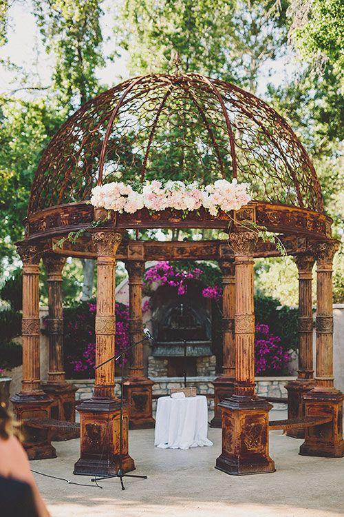 Classic and Romantic Wedding in California, Ceremony Gazebo   Brides.com