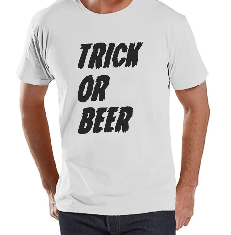 mens trick or beer shirt funny adult halloween costumes mens shirt mens costume - Cool Happy Halloween Pictures