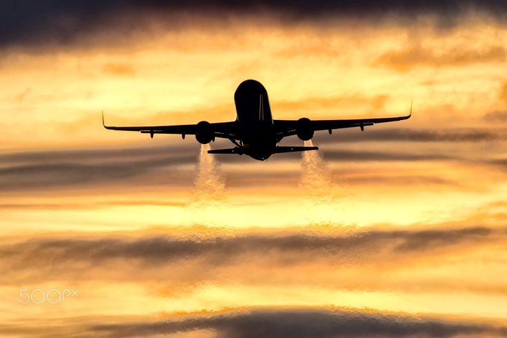Easyjet sunset departure - EasyJet Airbus A320-200(WL) (G-EZRH) sunset departure from Belfast International Airport