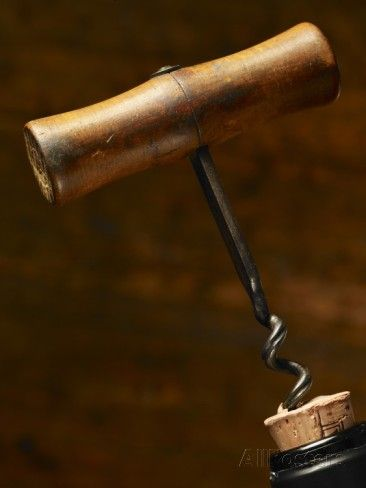 Old-Fashioned Corkscrew Uncorking Bottle Photographic Print by Steve Lupton - AllPosters.ca