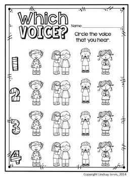 Elementary music class assessment - four voices / voice types - KINDERGARTEN MUSIC LESSON PLAN {DAY 13} - TeachersPayTeachers.com. Kodaly Inspired Classroom #elmused #kodaly #musiceducation