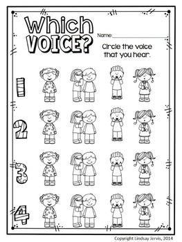 Elementary music class assessment - four voices / voice types - KINDERGARTEN MUSIC LESSON PLAN {DAY 13} - TeachersPayTeachers.com. Kodaly Inspired Classroom #elmused #kodaly #musiceducation
