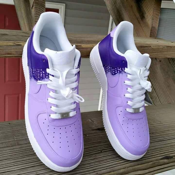 Sweet!! Purple rain Nike Airforce 1's