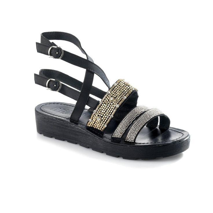 Arianna Black Sandal