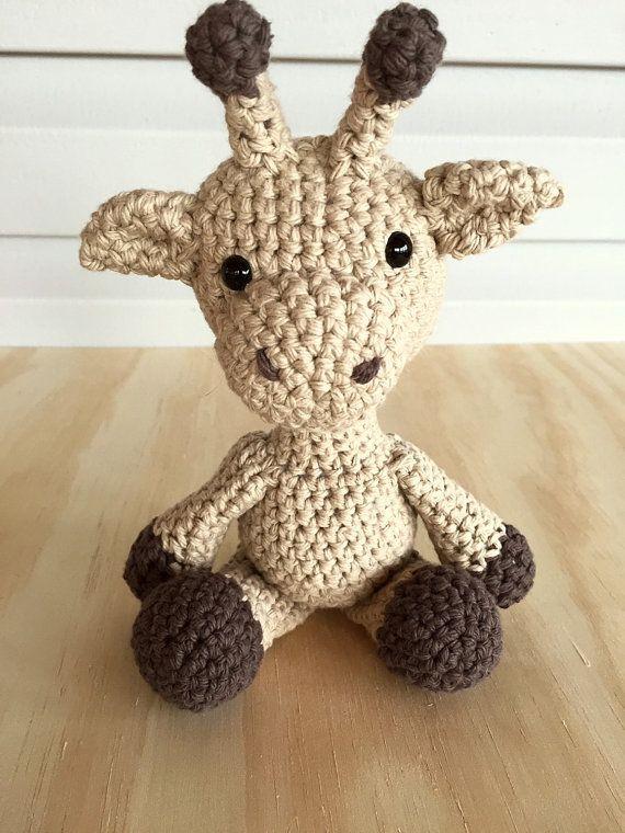 Stuffed Giraffe Amigurumi Giraffe Crocheted Giraffe by LooAndBee