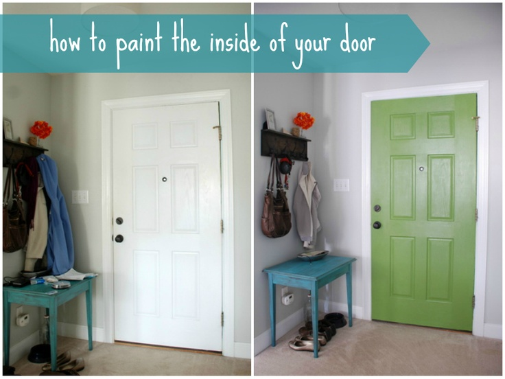 17 best images about lively green door on pinterest how for How to spray paint doors