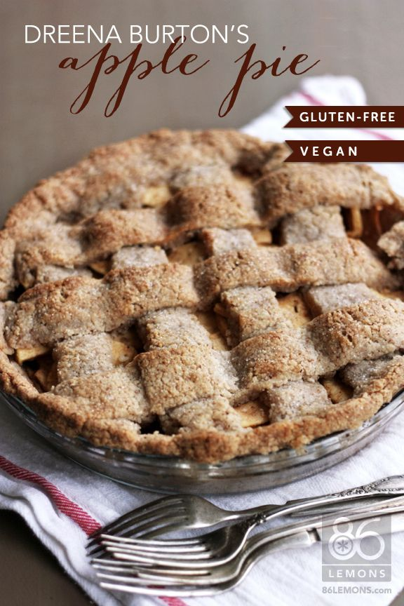 Gluten free vegan pie crust.     INGREDIENTS   1 1/2 cups almond meal     3/4 cup rice flour or sorghum flour     1/2 cup tapioca starch flour     1/4 cup arrowroot powder     1/4 cup unrefined sugar     1/2 tsp. sea salt     2 tsp. xanthum gum     3/4 cup + 2 Tbsp. organic extra-virgin coconut oil, at room temperature     7 1/2 to 8 Tbsp. ice-cold plain nondairy milk