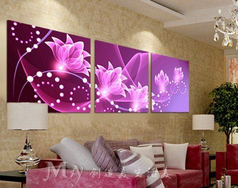 Amazon.com : ASIA MODERN ABSTRACT WALL ART PAINTING ON CANVAS NEW Style ! (NO FRAME)with Master the drawing of the Orchid of abstract painting : Office Products