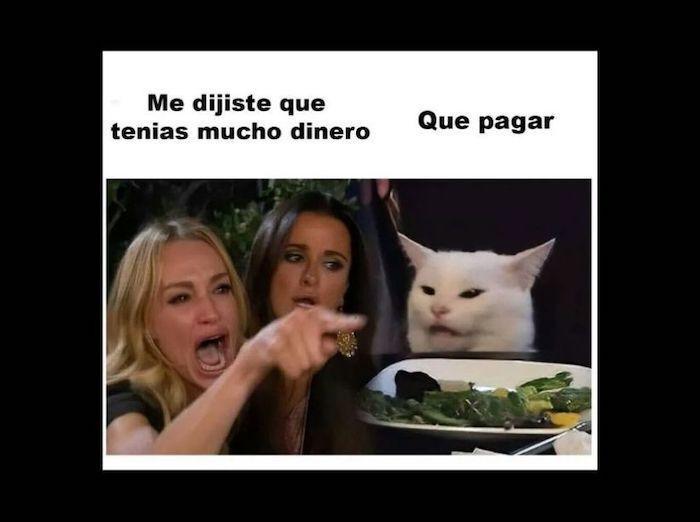 Conoces La Historia Del Meme De La Mujer Gritando Y El Gato Blanco