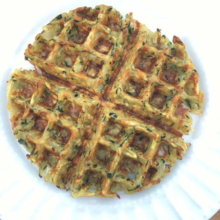 Waffle Iron Zucchini Hash Browns | Living Lean With Erin