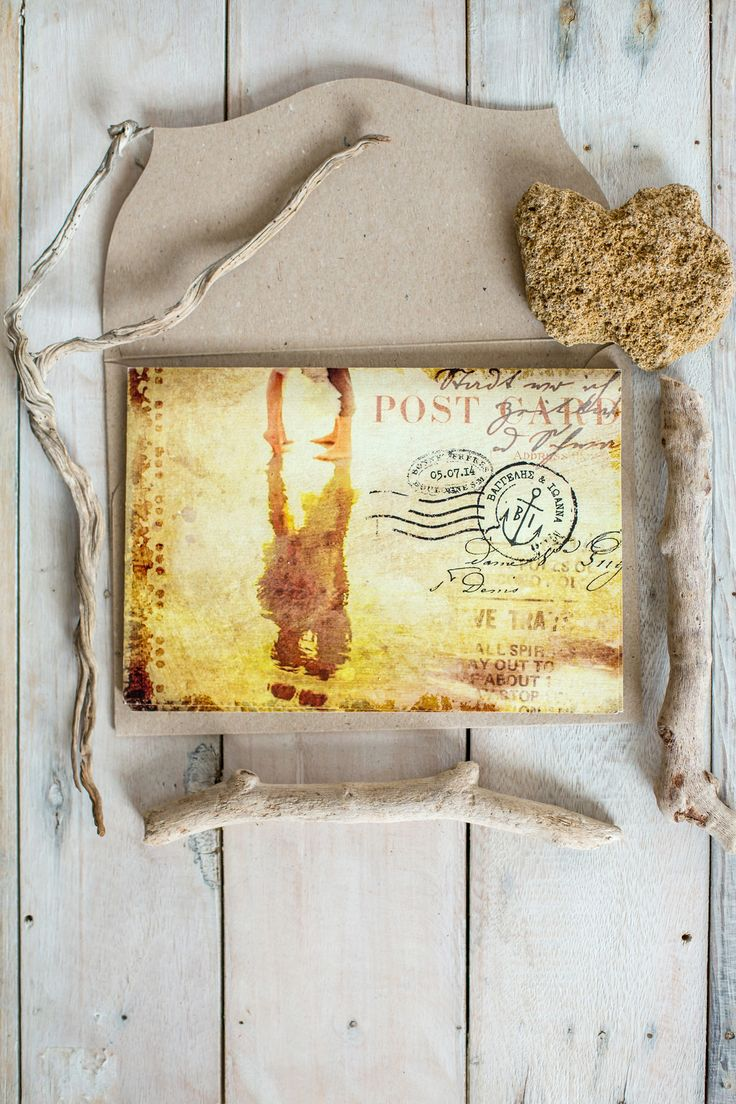 Coastal Rustic Style - Wedding Invitation. www.atelier-invitations.gr