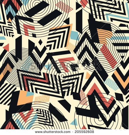 Seamless vector geometric pattern background