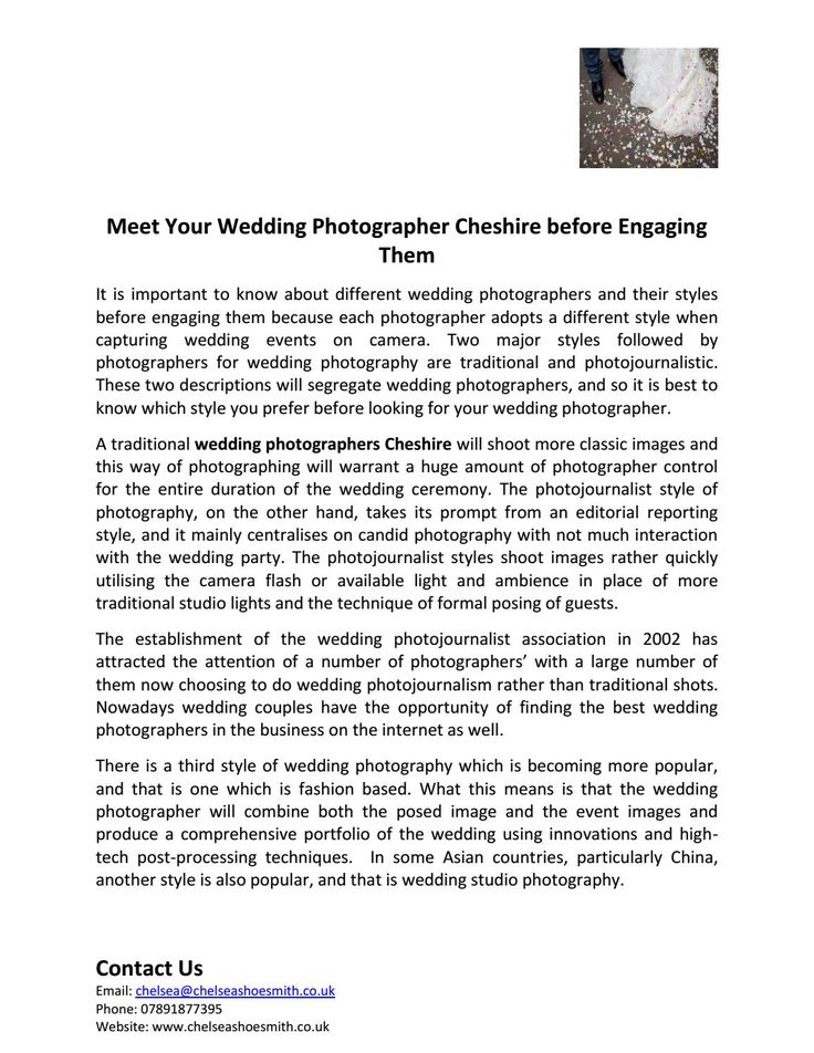 Meet your wedding photographer cheshire before engaging them