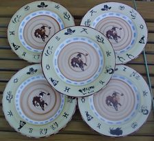 Lot of 5 Page Thorbeck Seattle 10.5\  Dinner Plates Pottery Cowboy Western Rodeo & 12 best Ceramics: Page Thorbeck American Studio Pottery images on ...
