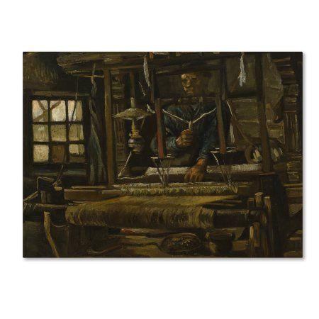 Trademark Fine Art 'A Weavers Cottage' Canvas Art by Van Gogh, Gold